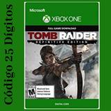 Tomb Raider Definitive Edition Xbox One Código 25 Dígitos