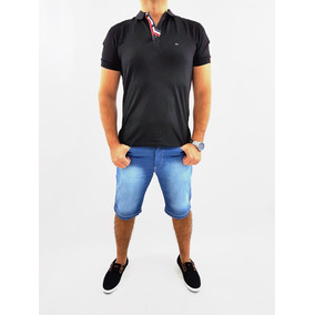 Bermuda Plus Size Masculina Slim Com Lycra Do 36 Ao 58