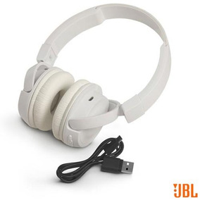 Fone Ouvido Sem Fio Jbl On Ear Headphone Branco Jblt450btwht