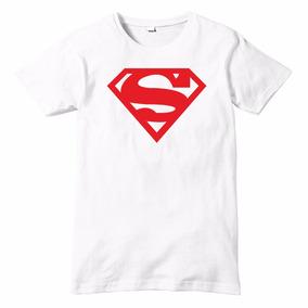 Playera Talla Infantil Superman Impresion Digital Dc Comics