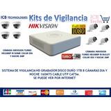 Sistema De Seguridad Hikvision 8 Cámaras Hd 1080p