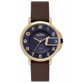 Relógio Condor Ref: Co2035mrs/2a Casual Dourado