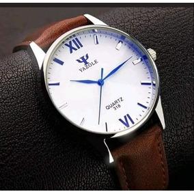 Reloj Elegante Hombre Acero Vidrio Tornasol Envio Gratis