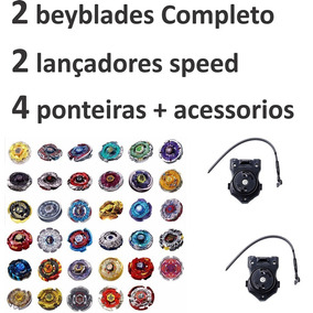 Kit 2 Beyblades Ferro Originais Rapidity Completo + Brinde