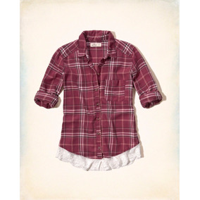 Camisa Cuadros Hollister 100% Original