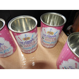 5 Latas Vazias Leite Moça - Rosa - Coleção Candy Colors