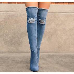 dea60cb78375a Botas En Jeans Altas - Zapatos Mujer en Mercado Libre Venezuela