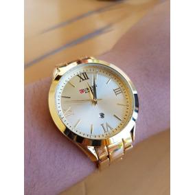 Nuevo Reloj Blanche Golden Contra Agua! Inoxidable Fechador!