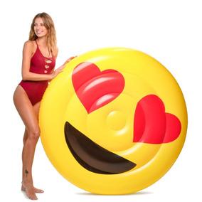 Emoji Corazones Flotador Inflable Gigante Floatie Kings