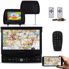 Dvd Automotivo Positron Bluetooth + 2 Encosto Cabeça Preto