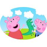 1 Elipse , Peppa Pig , Com Nome 60cm Cada