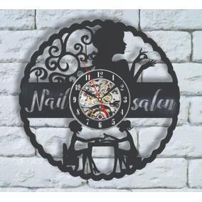 Relógio De Parede, Disco Vinil, Manicure, Salão De Beleza
