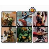 Kit C/ 6 Porta-copos Emborrachados Street Fighter Gamer