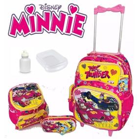 Mochila Infantil Rodinha Minnie Original Promoção 2019