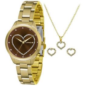 6cdda67f320 Kit Relógio Feminino Lince Com Joia De Ponto De Luz - Relógios De ...
