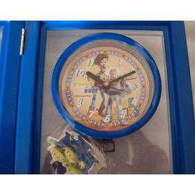 7cb3b0f325f Porta Retrato Relógio Toy Story Quarto Infantil Cabeceira