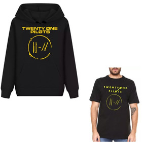Kit Moletom Dj Twenty One Pilots Camiseta Blusa Moleton 6b05c6020b458