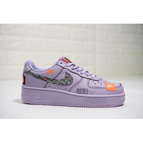 Nike- Air Force One ,just Do It - Morado