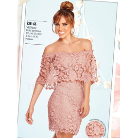 Vestido Dama Color Palo De Rosa Cklass 928 66 Con Encaje