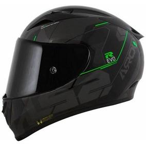 Capacete Ls2 Ff323 Arrow R Techno Preto Cinza Verde - Tri Co