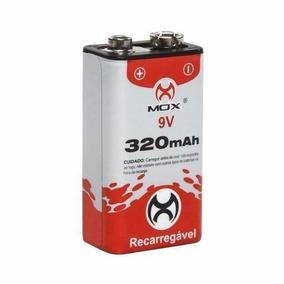 50 Bateria Recarregável 9v 320mah Mox Original