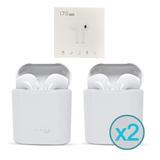 2 Unidades Audifonos Bluetooth I7s Tws iPhone Samsung