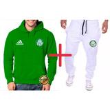 Kit   Blusa + Calça Moleton Palmeiras Time Futebol Masculino 32f1679c812d7