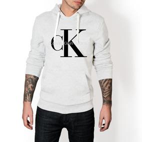 ef729e861ecd4 Jaqueta Calvin Klein Com Capuz - Moletom Masculinas Branco no ...