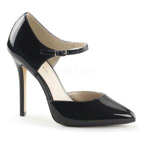 Zapatos Altos Pleaser Usa Charol Negros #38