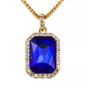 Pingente Com Pedras Azul Cristal - Joias e Relógios no Mercado Livre ... 910cb373d5