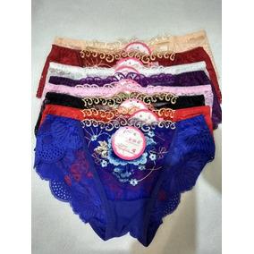 Lote 8 Pzas, Panty Sexy Encaje Flores Mayoreo Importacion