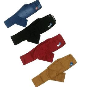 3 Calça Jeans E Brim Infantil Menino Masculino,para Criança