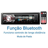 Toca Mp3 Radio Fm Carro Sub Frontal Sd Bluetooth V9