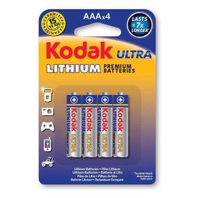 Pilha Kodak De Litio Ultra Aaa Palito Embalagem C/4 Unidades
