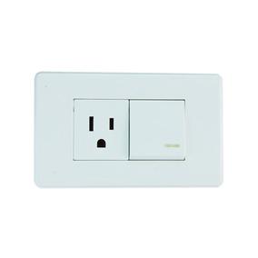 Interruptor + Toma 2p+t Color Blanco (gm86d-4)