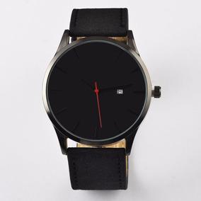 Relógio Masculino Design Preto Ou Bege Barato