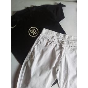 Calca Branca Masculina 44 + Camiseta
