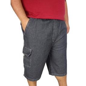 Bermuda Jeans Masculina Plus Size Tamanho Grande