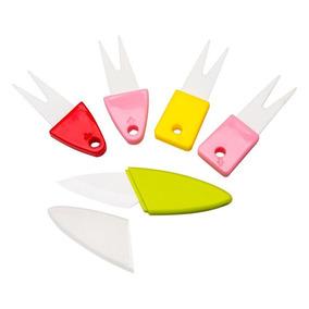 Tenedores Y Cuchillo De Ceramica Unico Oferta! Antibacterial
