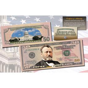 Cédula De $ 50 Dólares Legitima Colorida - Raridade