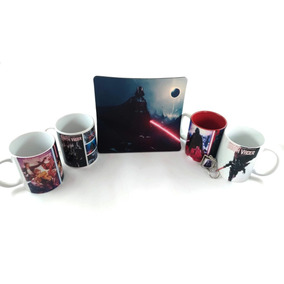 Kit Star Wars: 4 Canecas+chaveiro+mousepad