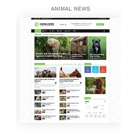 Modelo De Site, Blog, Tema Newspaper (nicho Animais)