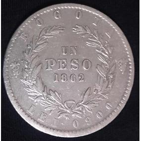 Moeda Prata 1 Un Peso Colômbia- 1862 - Rara