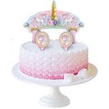 Topo De Bolo Cake Topper Decoração Festa - Unicórnio