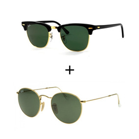 Oculos Rayban Round De Sol Ray Ban Clubmaster - Óculos no Mercado ... 66fce1411d