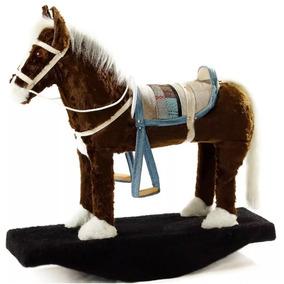 Cavalinho Balanço Brinquedo Fazendinha Cavalo De Sela Marrom