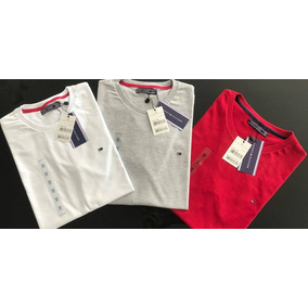 d744bdaef2c4a Kit 10 Camisetas Masculina Lisa Multimarcas  tommy Atacado