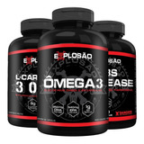 Kit Emagrecedor Omega 3 + Termogênico + L-carnitina Explosão
