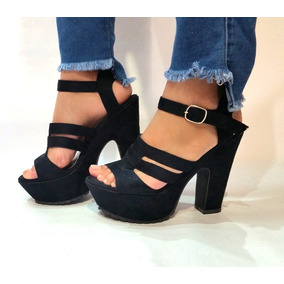 8f27f80bb2f Tacones Negros De Tiritas - Zapatos Mujer Sandalias en Mercado Libre ...