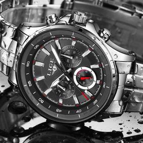 Relógio Importado Lige -prova Dágua Completo Promoção Pascoa